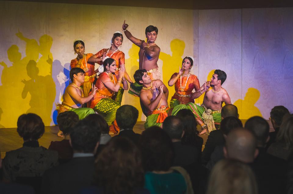 South indian dance troupe led by padmashri prathibha for Consul performance