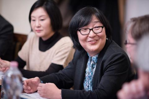 Kayoko Hayashi, president of Tokyo University of Foreign Studies opening the workshop