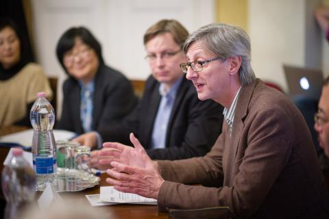 Opening remarks from CEU's  pro-rector Laszlo Kontler. Image credit: CEU - Daniel Vegel