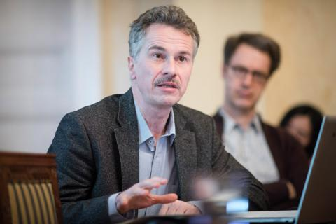 Professor Carsten Wilke, CEU Department of History. Image credit: CEU - Daniel Vegel