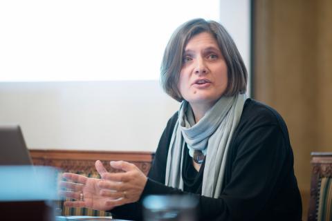 Prof. Oksana Sarkisova introducing the Novocherkassk Case. Image credit: CEU - Daniel Vegel