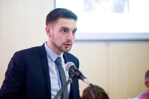 Alex Soros, CEU trustee and doctoral candidate in history at the University of California, Berkeley - Image credit: CEU/Daniel Vegel