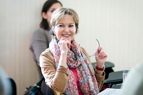 Best-selling author Kati Marton, IAS Fellow and CEU Trustee. Photo: CEU/Daniel Vegel.