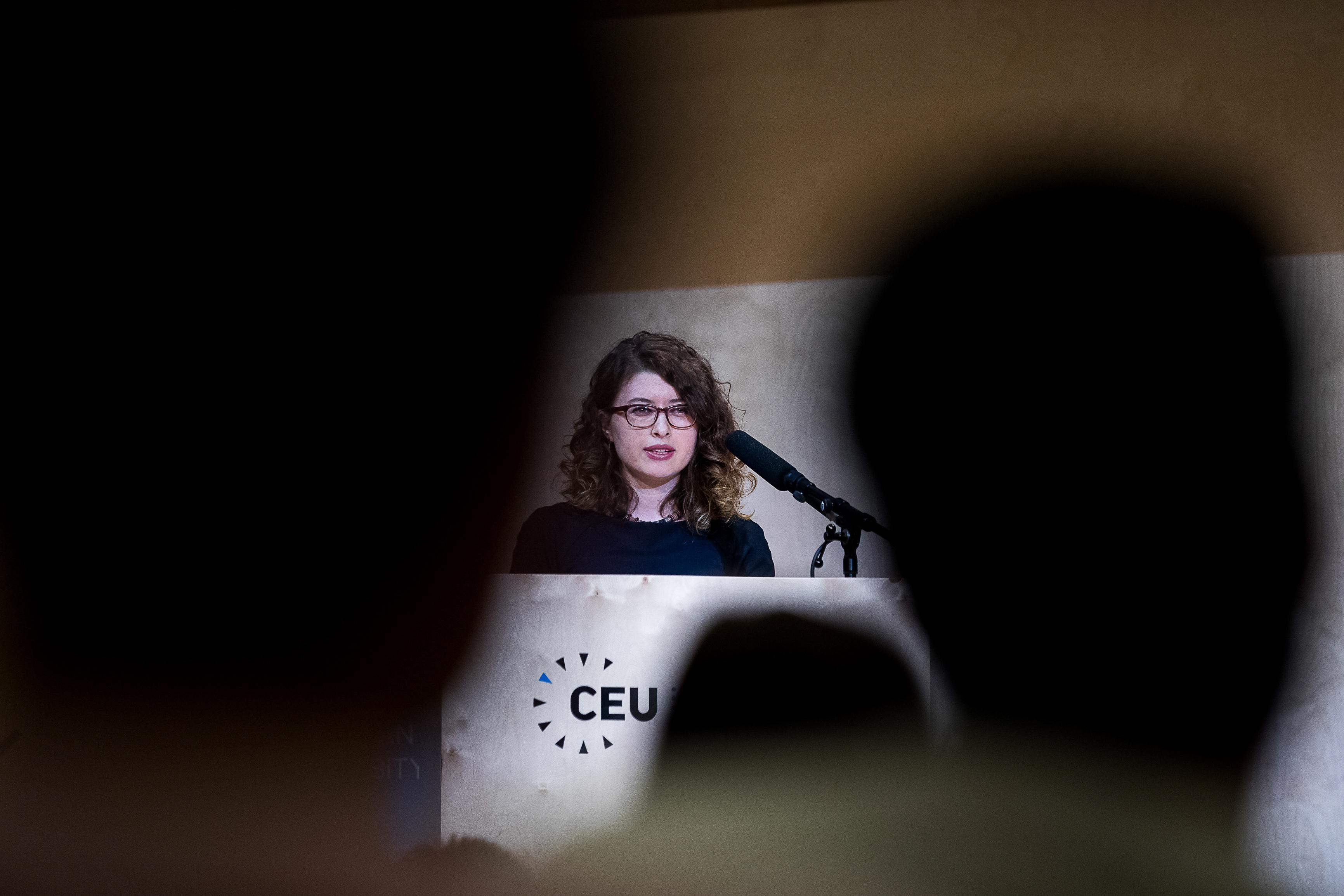 R. Merve Demijkan Aydogan, student at the Department of History is one of CEU's 700 new students in 2018. Image credit: CEU / Zoltan Adrian, Kepszerkesztoseg