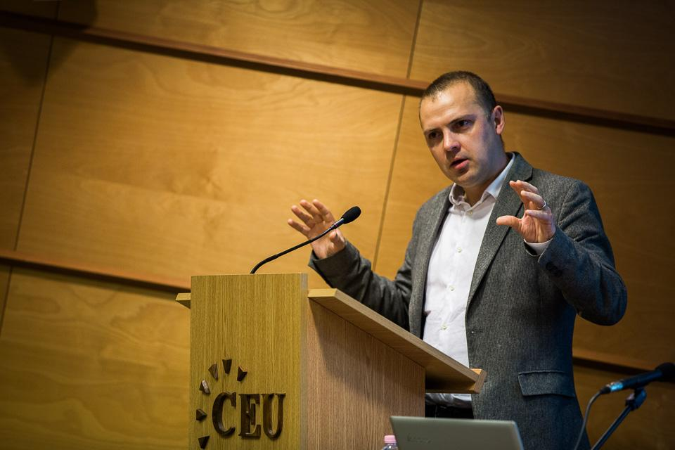 Ben Ansell speaking at CEU's conference Democracy and Its Discontents. Image credit - CEU, Gabor Ancsin (Kepszerkesztoseg)