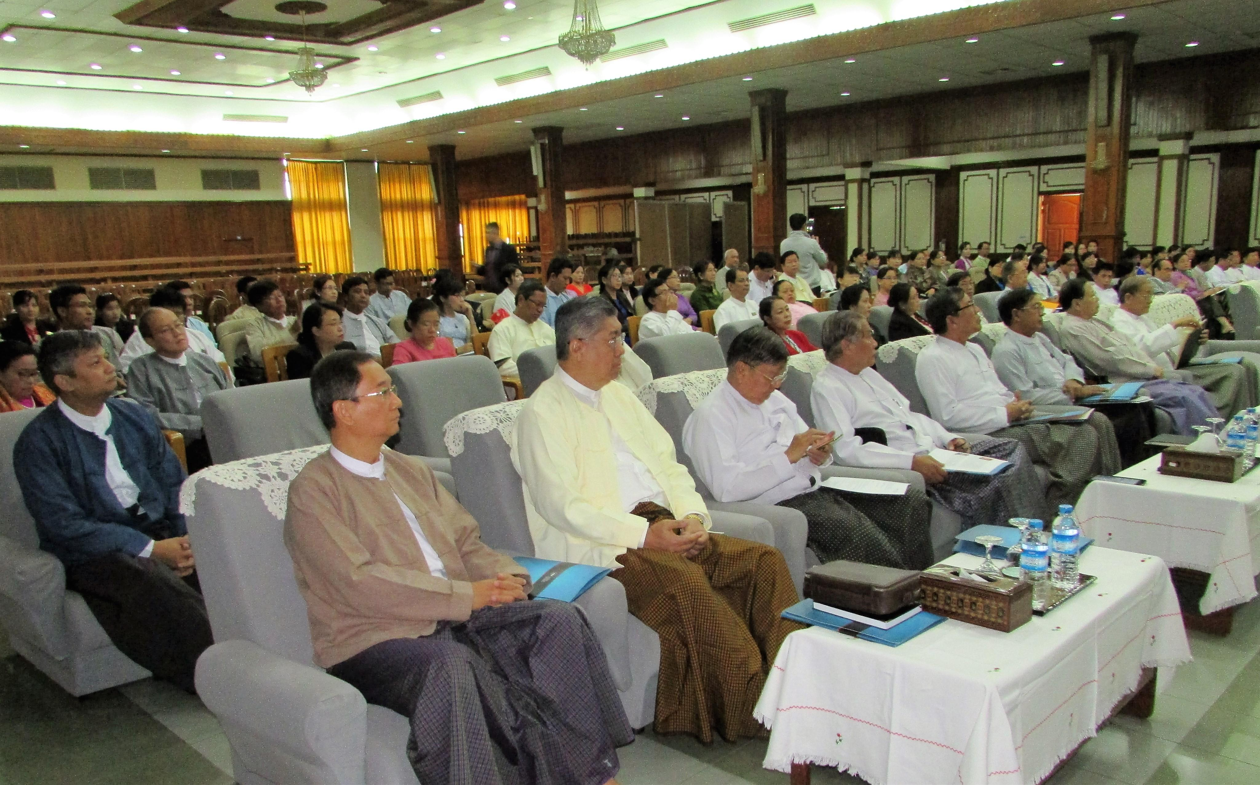 Participants in workshop on quality assurance organized by CEU, Diamond Jubilee Hall, Yangon, January 2017