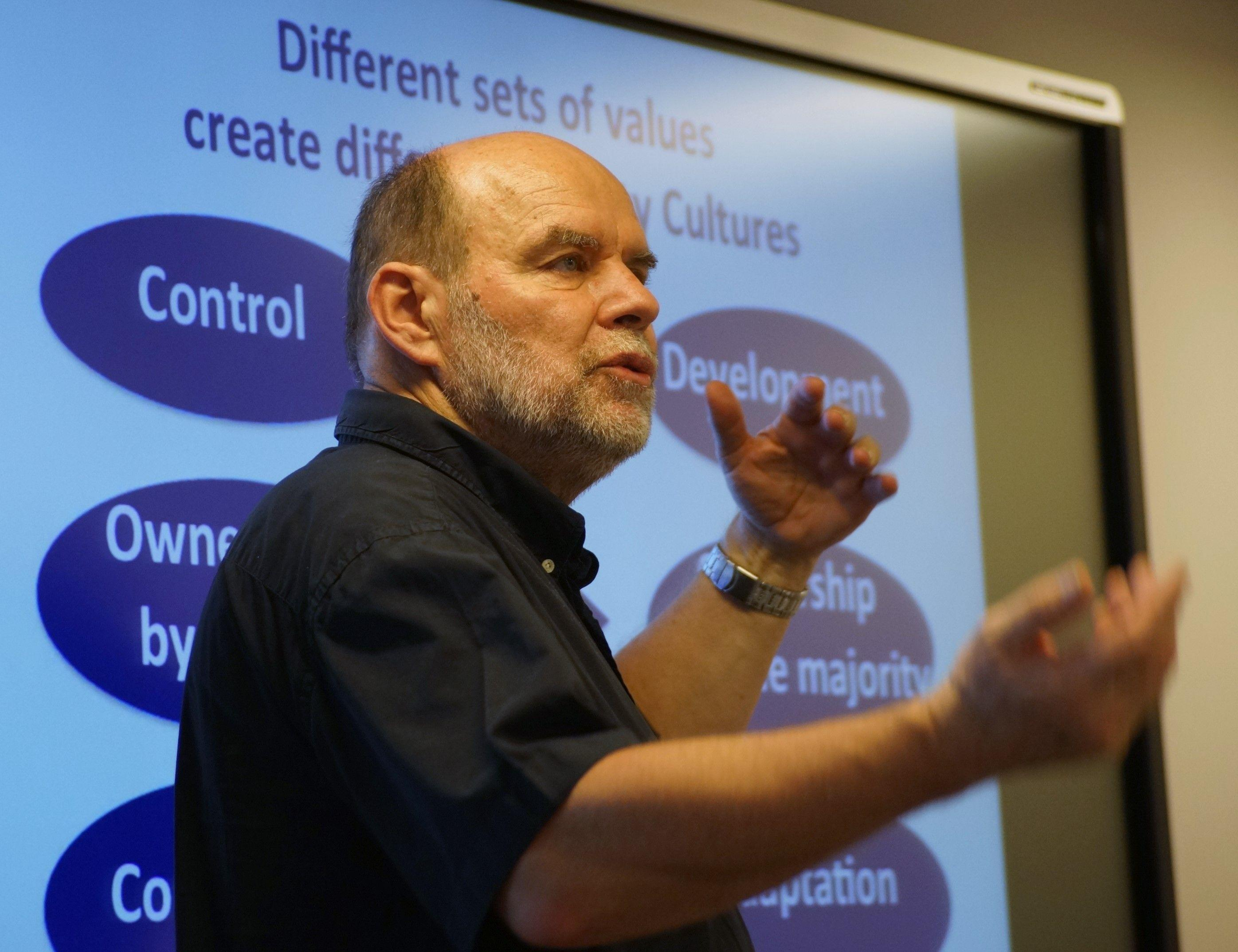 Policies and Practices in Lifelong Learning at Universities - Jacques Lanares' presentation. Image credit: Matyas Szabo
