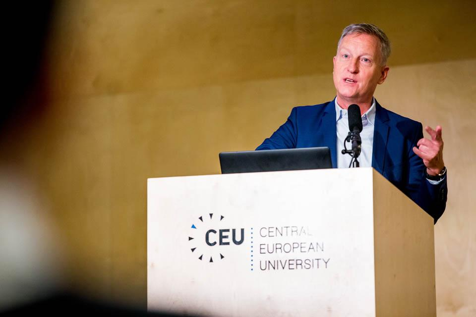 Jan Willem Duyvendak speaking about the lack of tolerance in the Netherlands. Image credit: CEU / Zoltan Tuba