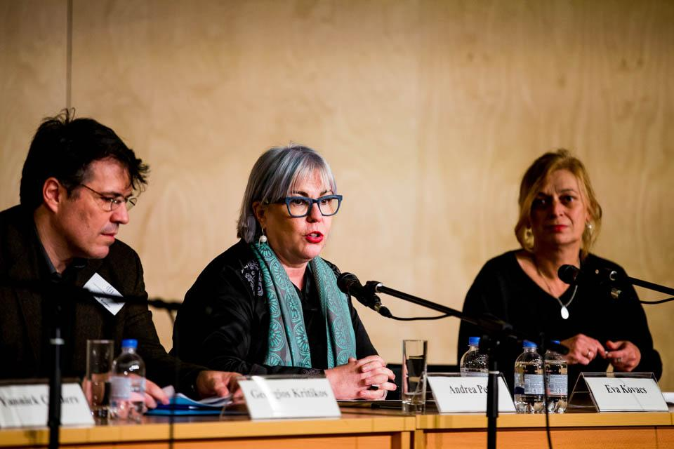 "Andrea Peto chaired the panel ""Migration in Europe: Whose Memory?"". Image credit: CEU / Zoltan Tuba"