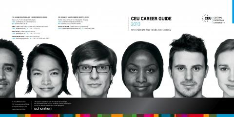 Front and back covers of the Careers brochure