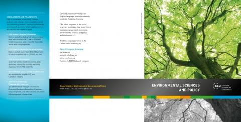 Environmental Sciences brochure cover