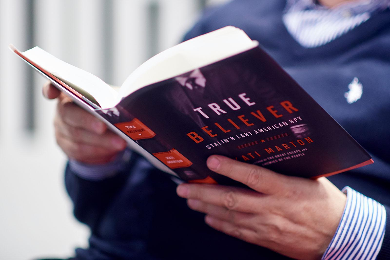 """CEU hosted the launch of Kati Marton's """"True Believer: Stalin's Last American Spy,"""" the story of Noel Field, a Harvard-educated U.S. State Department employee turned hard-core Stalinist on October 25. Photo: CEU / Daniel Vegel"""