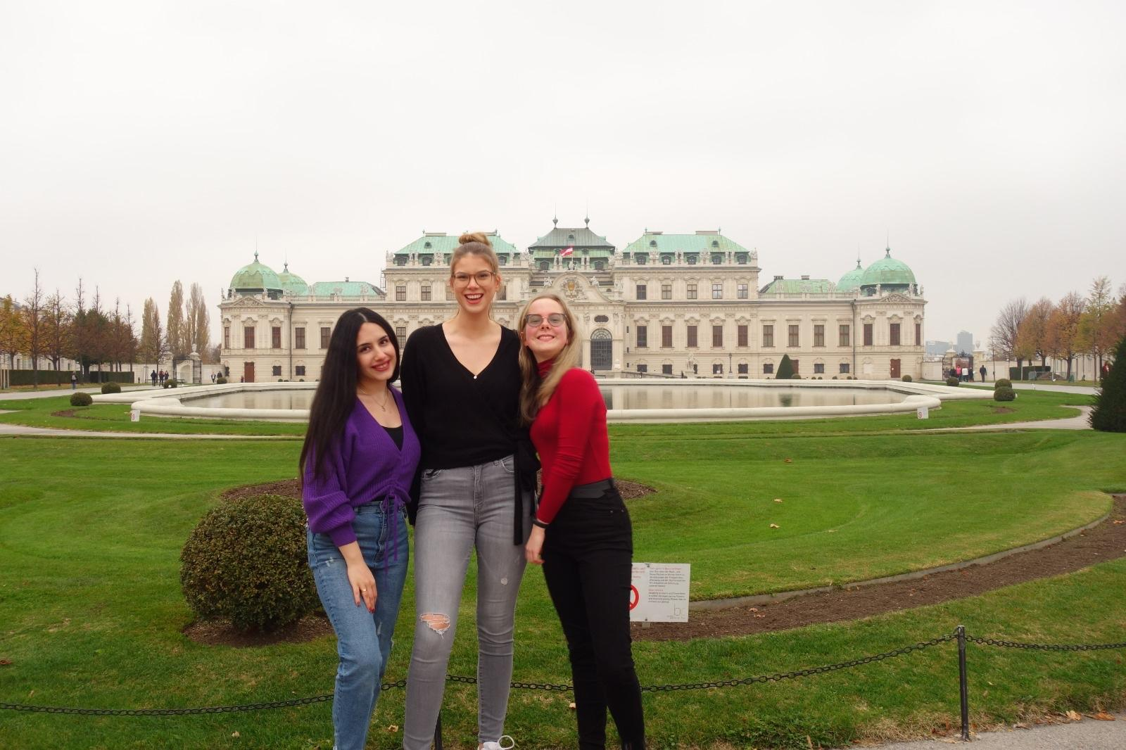 With friends in front of Belvedere Palace