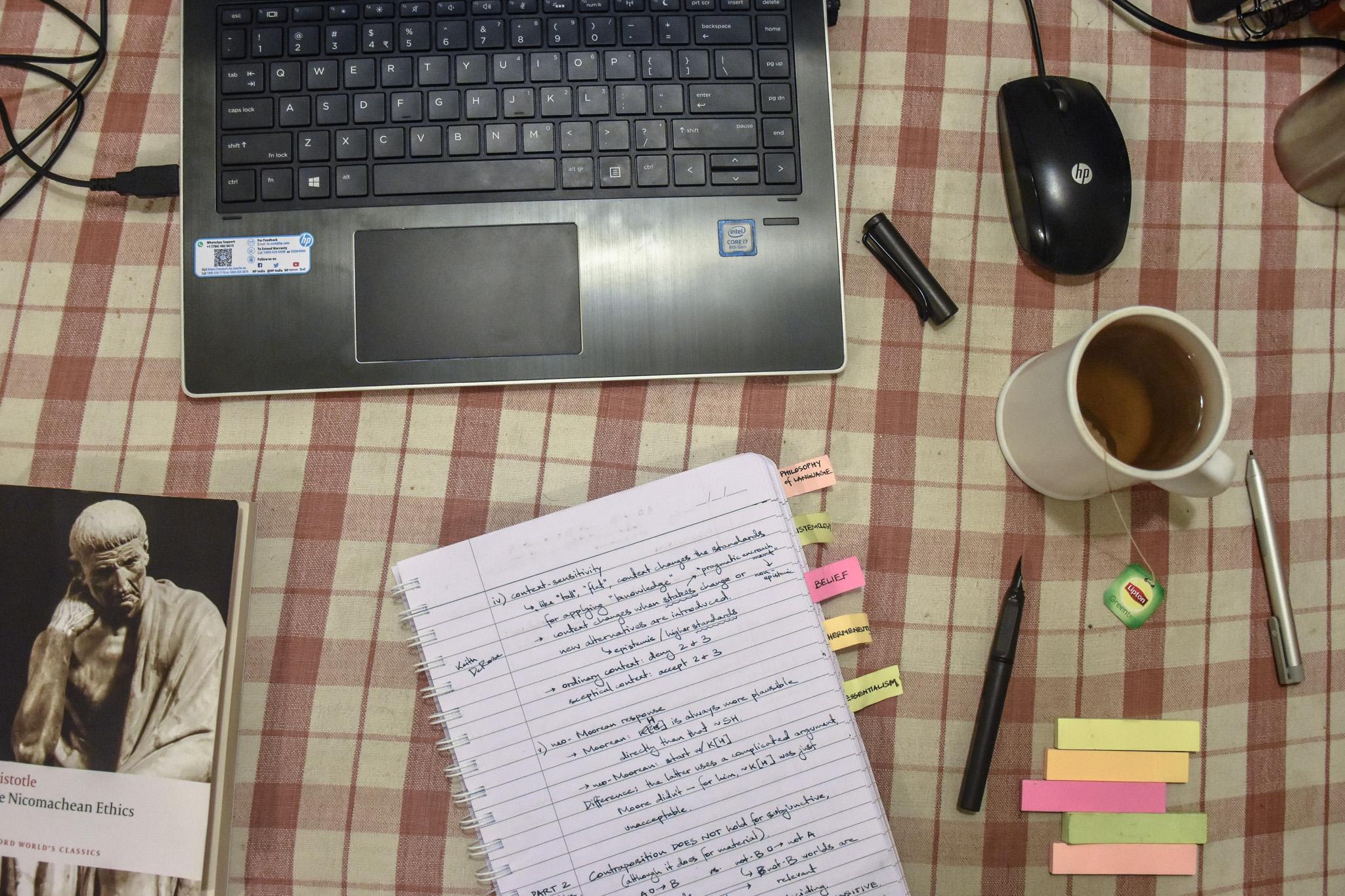 Swithin's desk