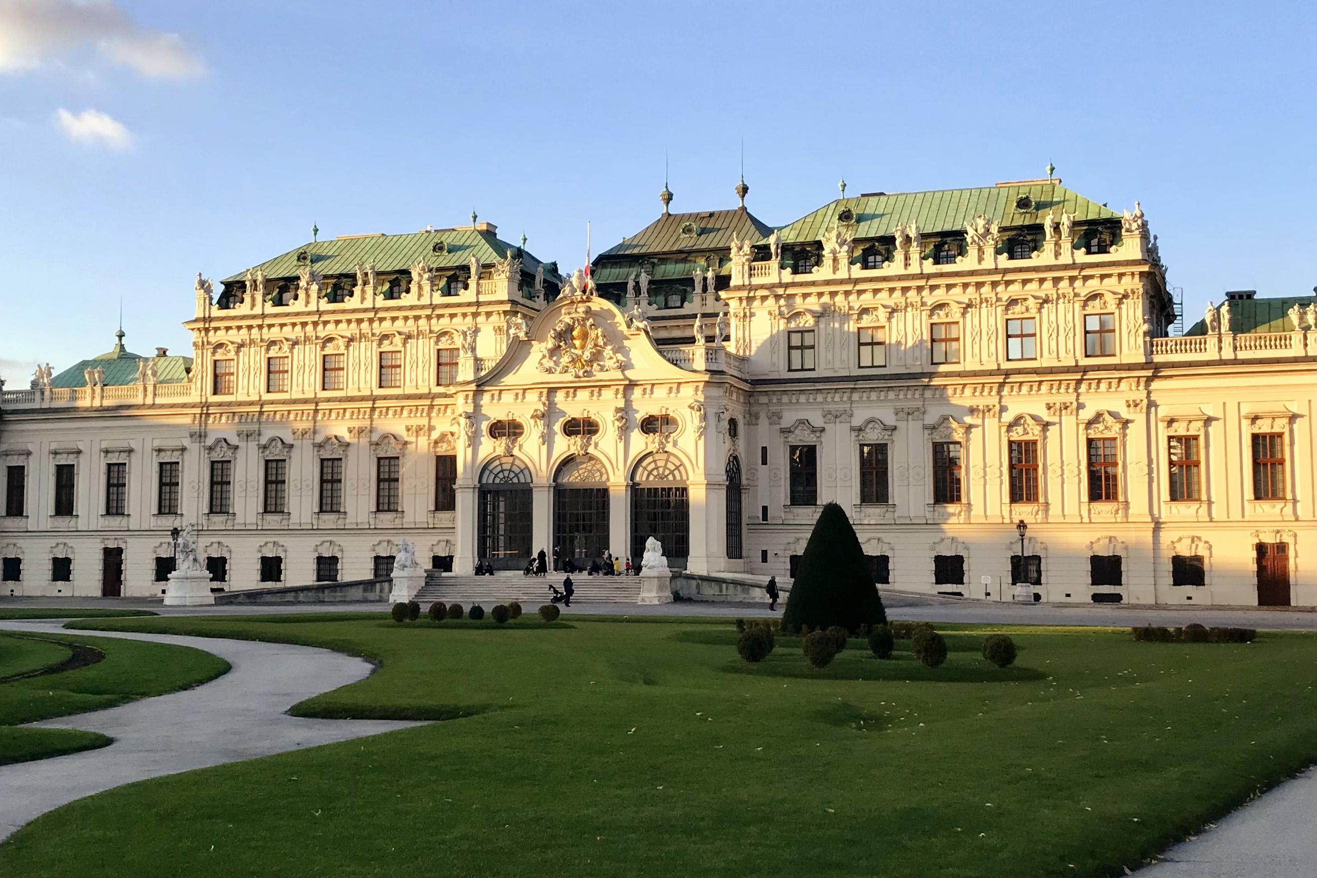 The Belvedere Palace not far from the Quellenstrasse Campus