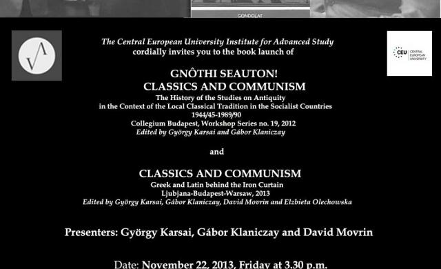 Classics And Communism Central European University